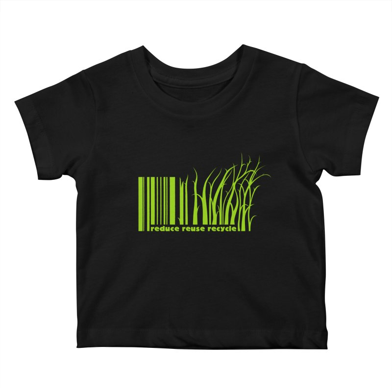 Reduce Reuse Recycle Kids Baby T-Shirt by YANMOS