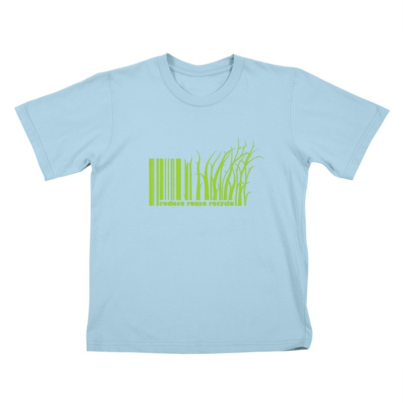 Reduce Reuse Recycle Kids T-Shirt by YANMOS