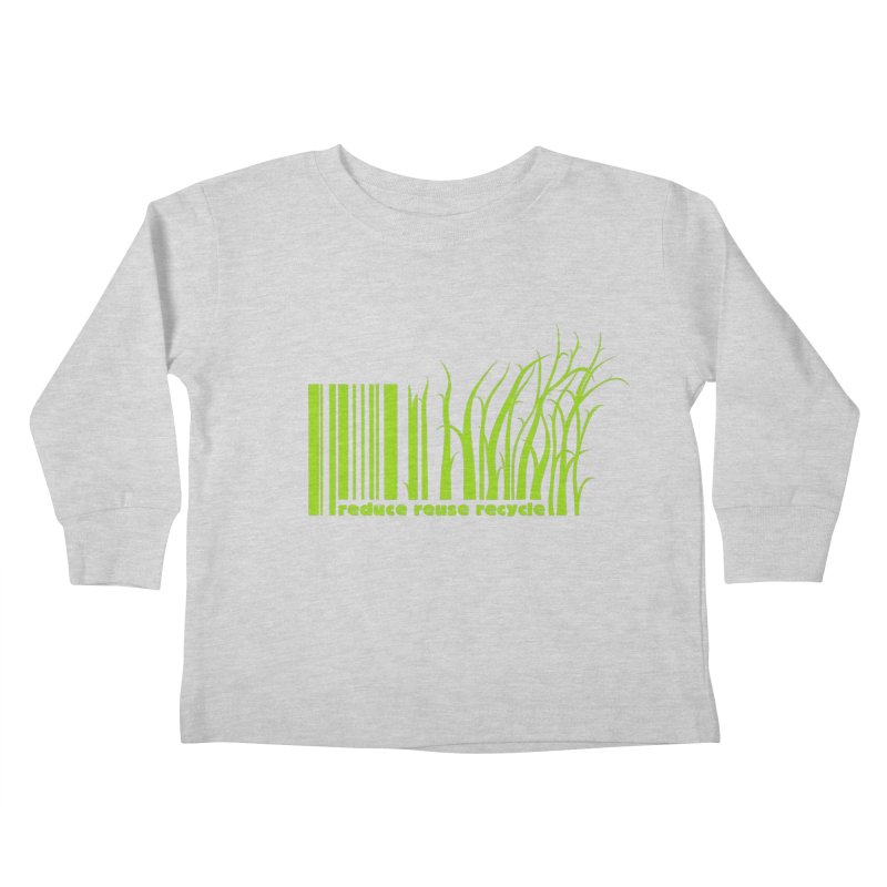 Reduce Reuse Recycle Kids Toddler Longsleeve T-Shirt by YANMOS