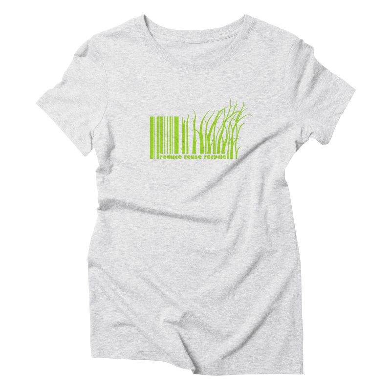 Reduce Reuse Recycle Women's Triblend T-Shirt by YANMOS