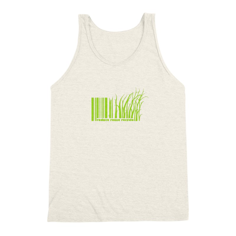 Reduce Reuse Recycle Men's Triblend Tank by YANMOS