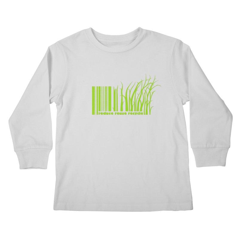 Reduce Reuse Recycle Kids Longsleeve T-Shirt by YANMOS