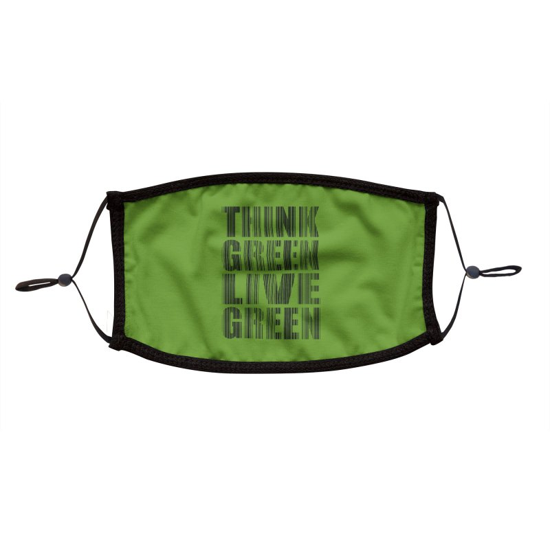 THINK GREEN LIVE GREEN Accessories Face Mask by YANMOS