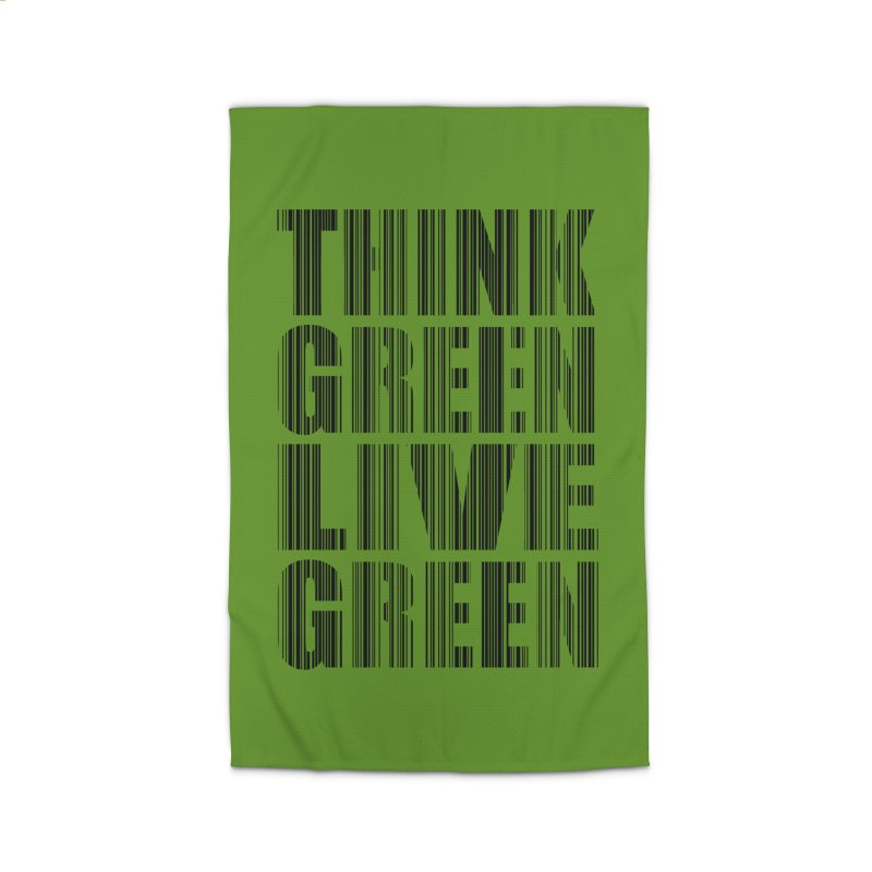 THINK GREEN LIVE GREEN Home Rug by YANMOS