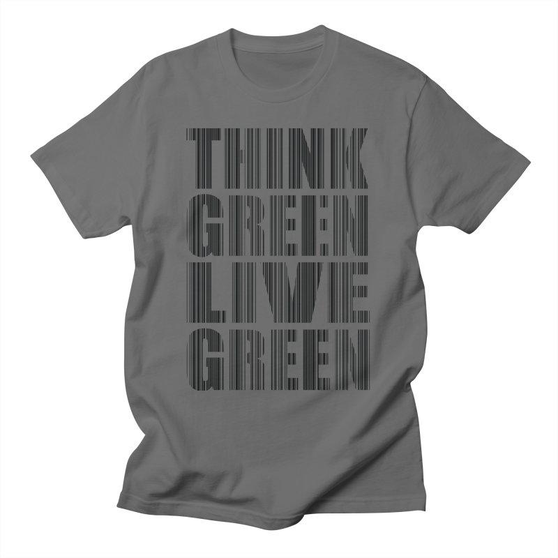 THINK GREEN LIVE GREEN Men's T-Shirt by YANMOS