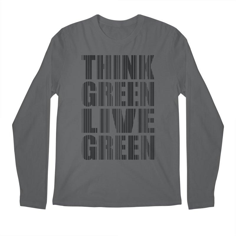 THINK GREEN LIVE GREEN Men's Longsleeve T-Shirt by YANMOS
