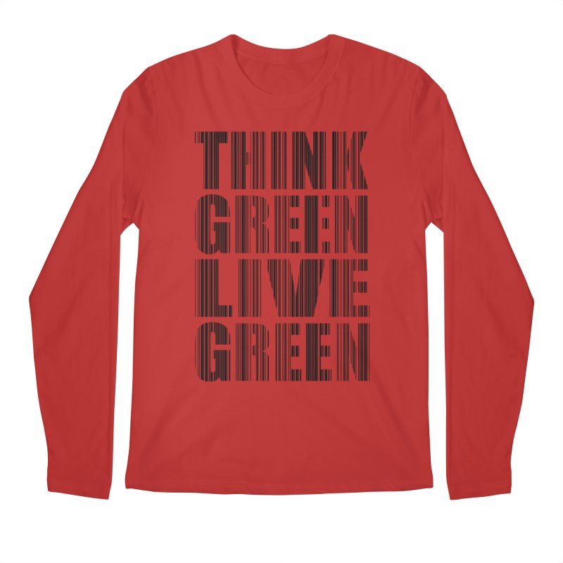 THINK GREEN LIVE GREEN Men's Longsleeve T-Shirt by YANMOS