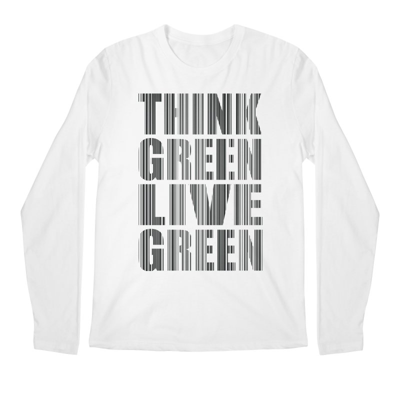 THINK GREEN LIVE GREEN Men's Regular Longsleeve T-Shirt by YANMOS