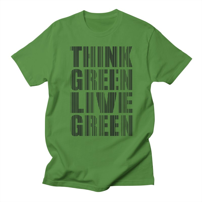 THINK GREEN LIVE GREEN in Men's Regular T-Shirt Clover by YANMOS