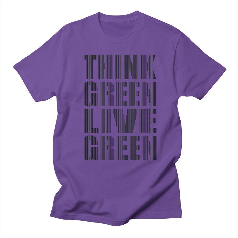 THINK GREEN LIVE GREEN Men's Regular T-Shirt by YANMOS