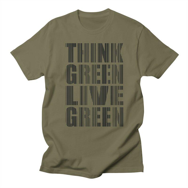 THINK GREEN LIVE GREEN Women's Regular Unisex T-Shirt by YANMOS