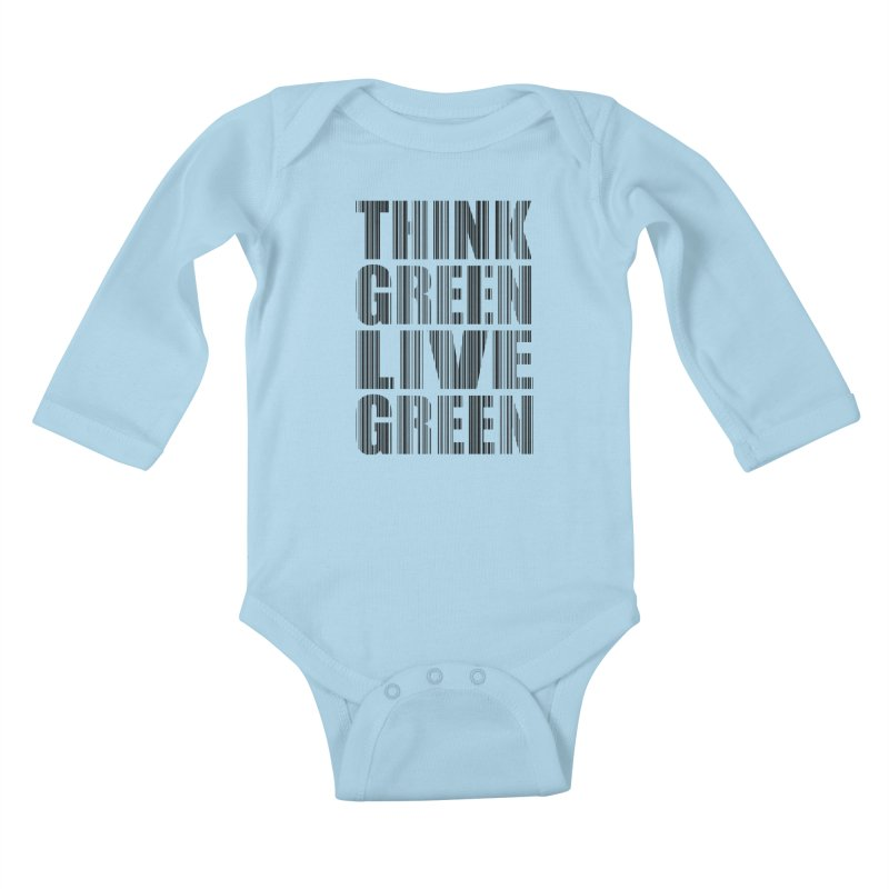 THINK GREEN LIVE GREEN Kids Baby Longsleeve Bodysuit by YANMOS