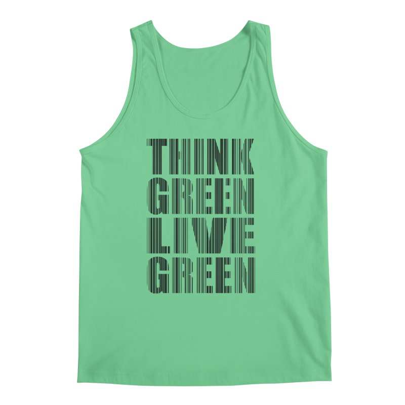 THINK GREEN LIVE GREEN Men's Regular Tank by YANMOS