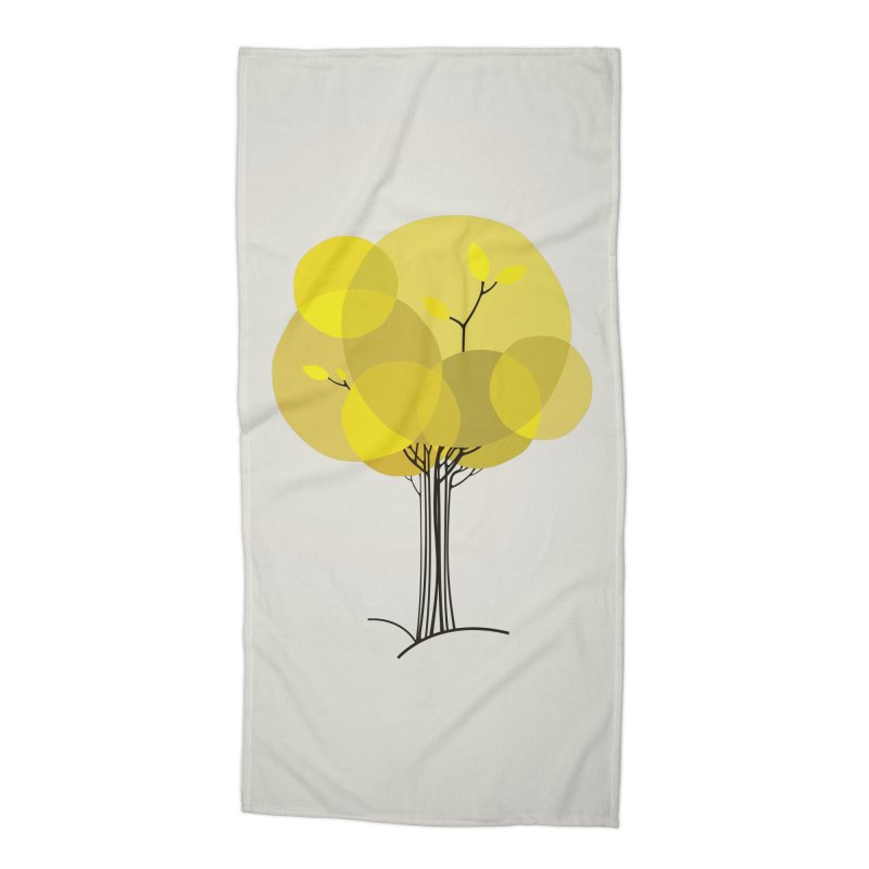 Autumn tree Accessories Beach Towel by YANMOS