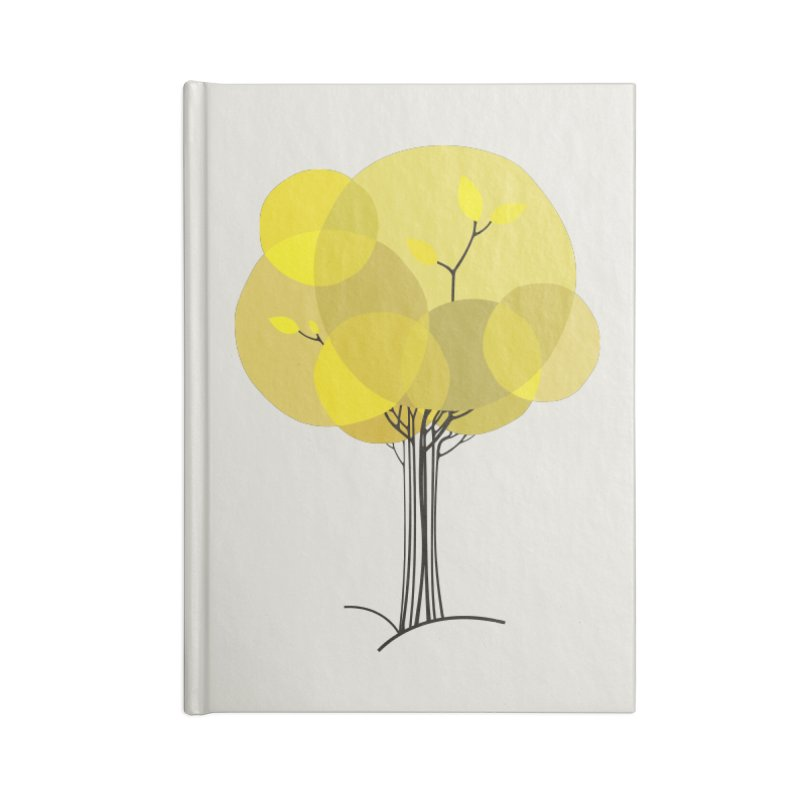 Autumn tree Accessories Lined Journal Notebook by YANMOS