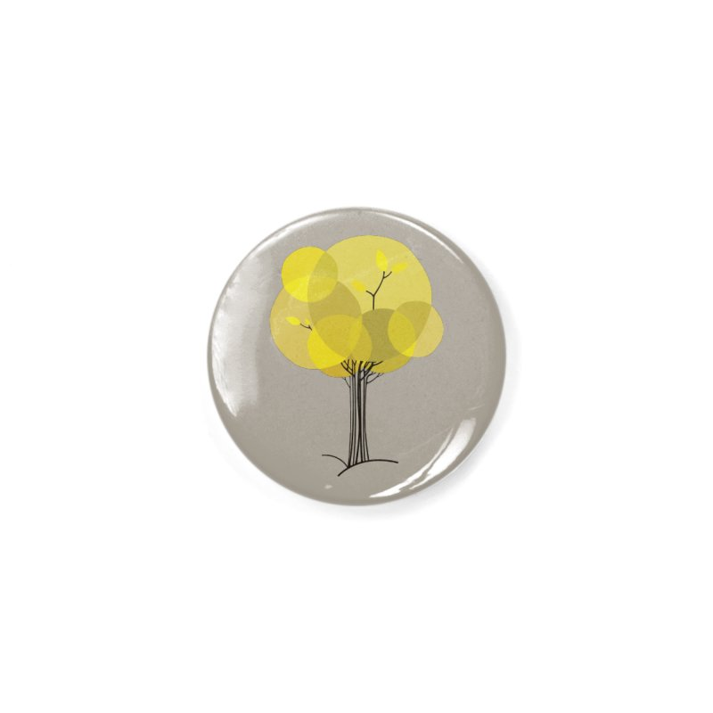 Autumn tree Accessories Button by YANMOS