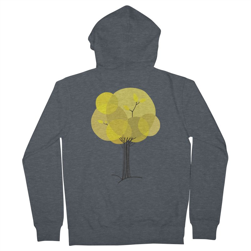 Autumn tree Women's French Terry Zip-Up Hoody by YANMOS