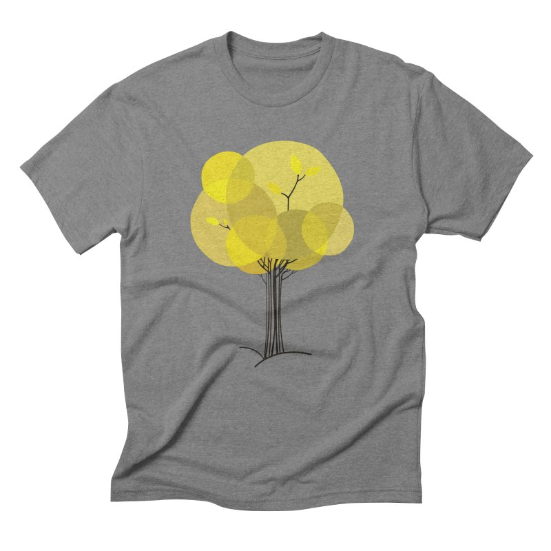 Autumn tree in Men's Triblend T-Shirt Grey Triblend by YANMOS