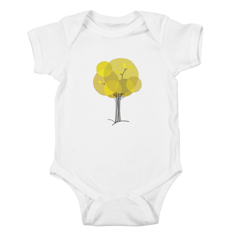 Autumn tree Kids Baby Bodysuit by YANMOS