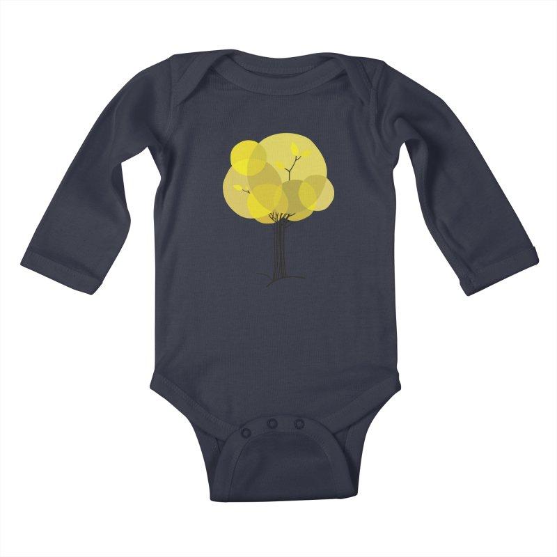 Autumn tree Kids Baby Longsleeve Bodysuit by YANMOS