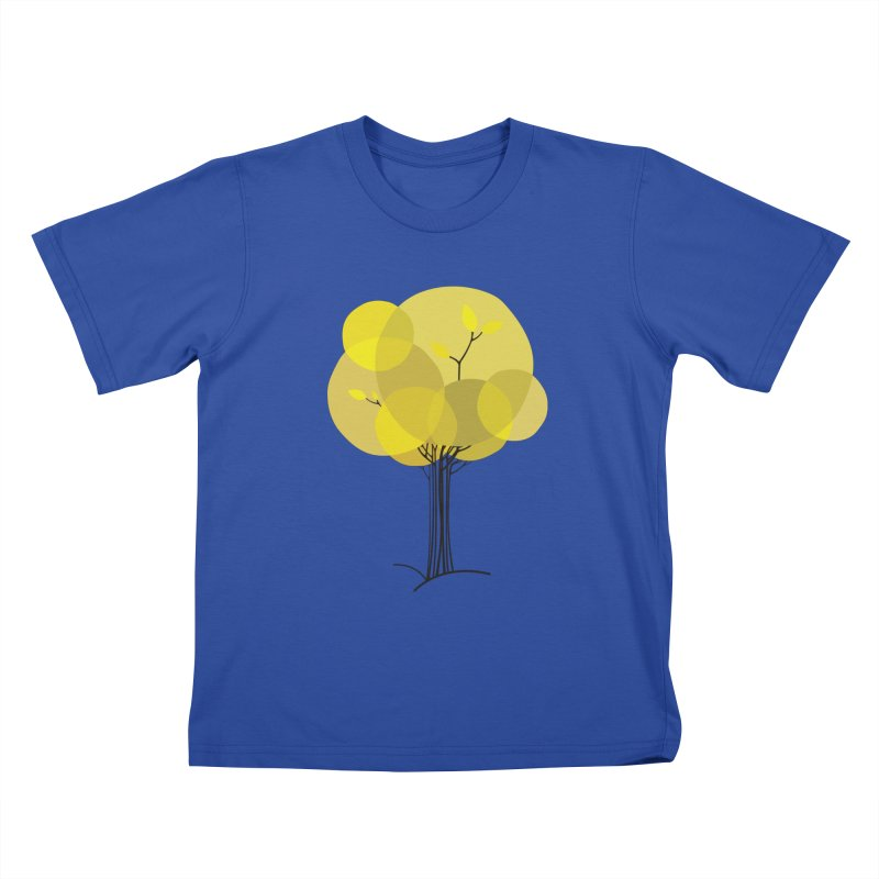 Autumn tree Kids T-Shirt by YANMOS