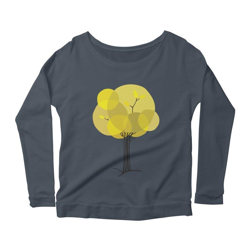Autumn tree Women's Scoop Neck Longsleeve T-Shirt by YANMOS