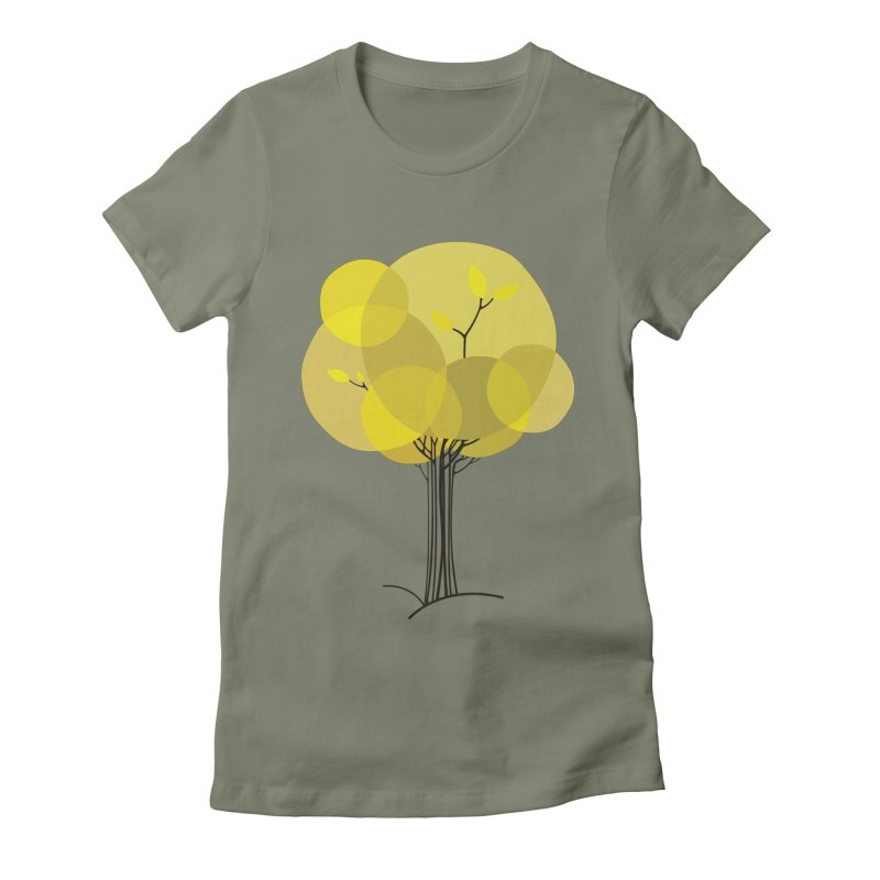 Autumn tree Women's Fitted T-Shirt by YANMOS