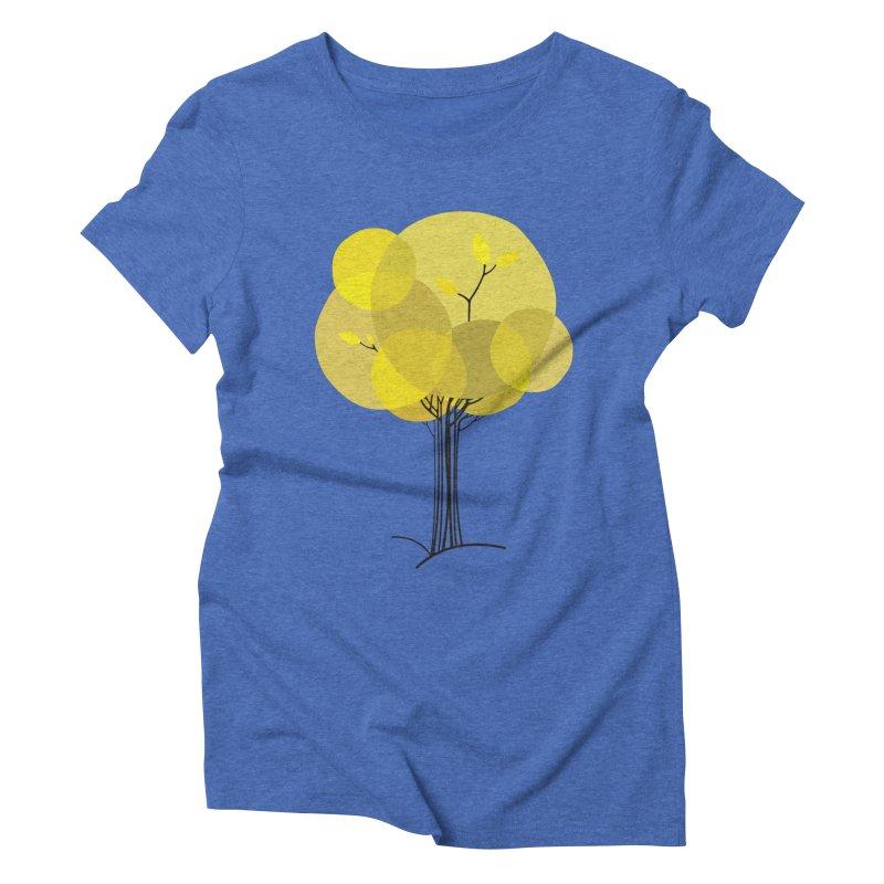 Autumn tree Women's Triblend T-Shirt by YANMOS