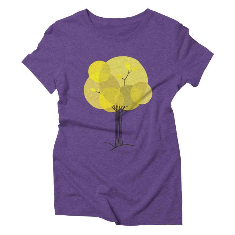 Autumn tree Women's Triblend T-Shirt by YANMOS