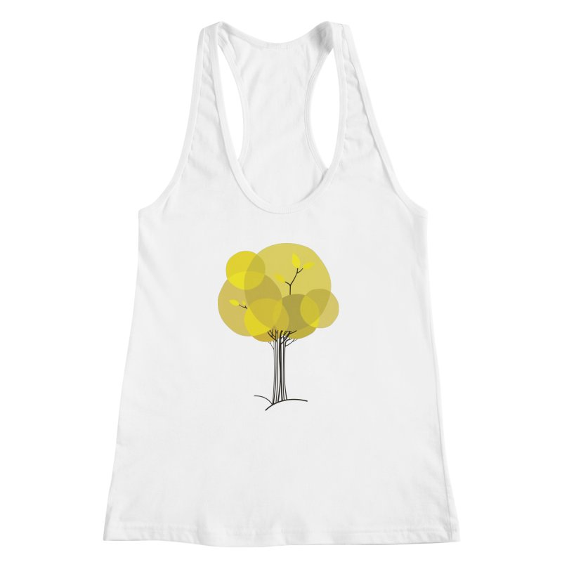 Autumn tree Women's Racerback Tank by YANMOS