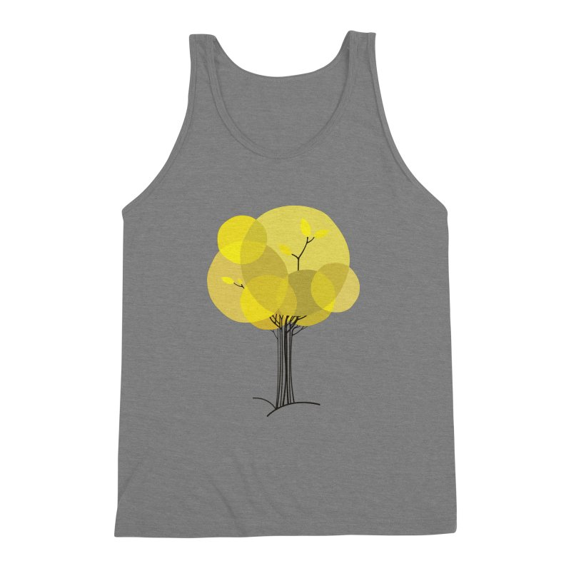 Autumn tree Men's Triblend Tank by YANMOS