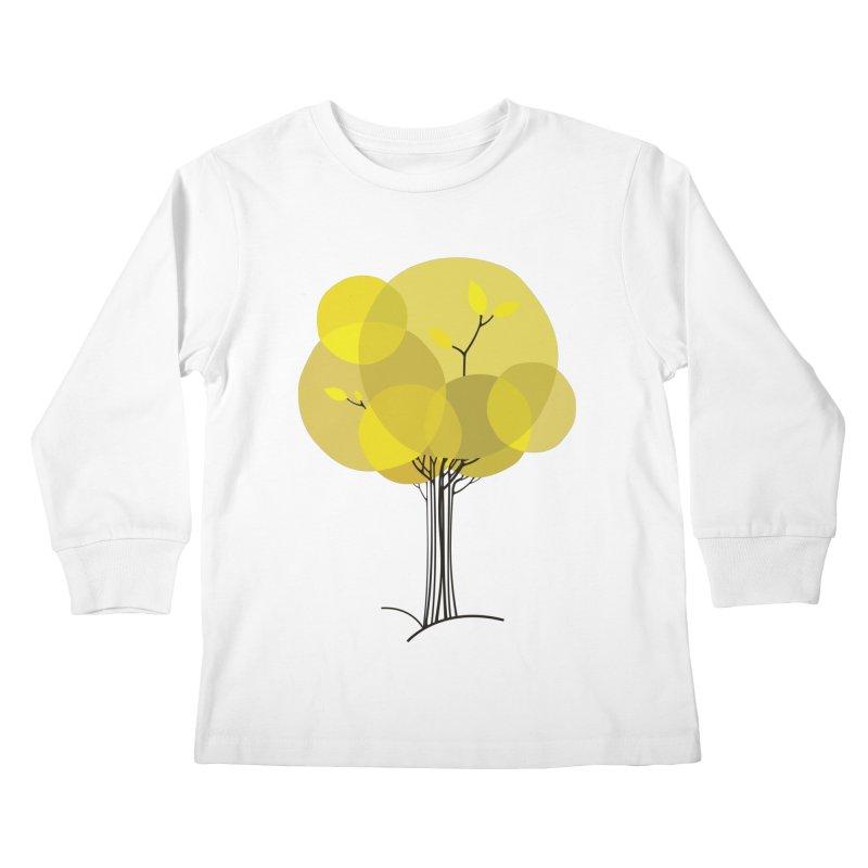 Autumn tree Kids Longsleeve T-Shirt by YANMOS