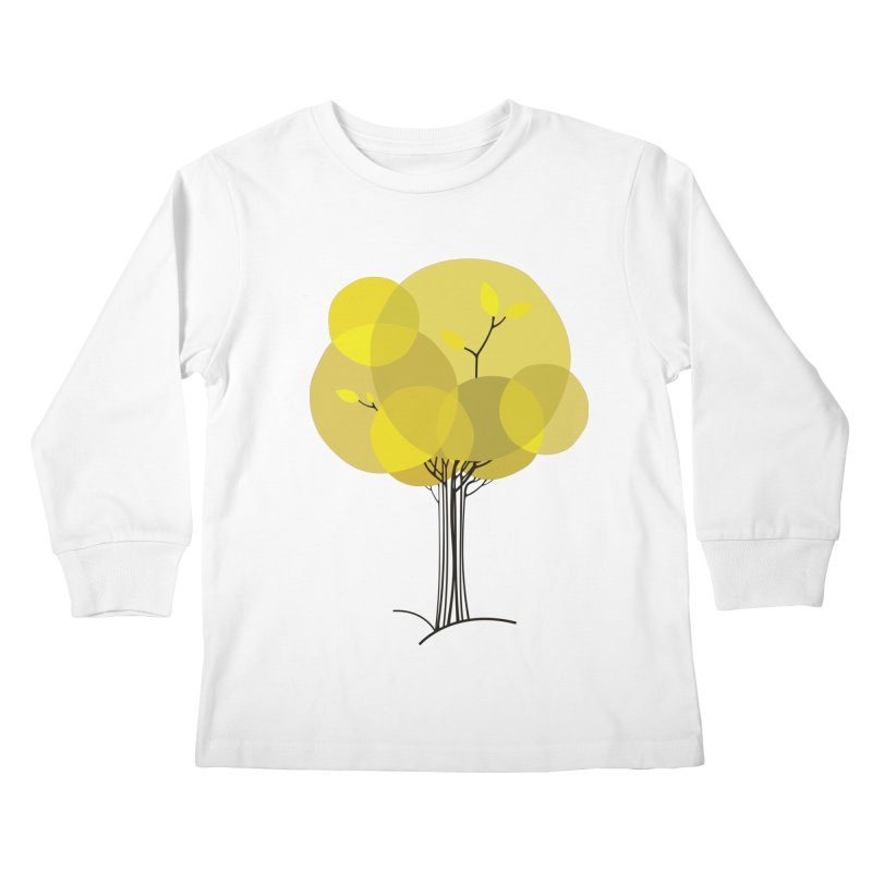 Autumn tree Kids Longsleeve T-Shirt by YANMOS