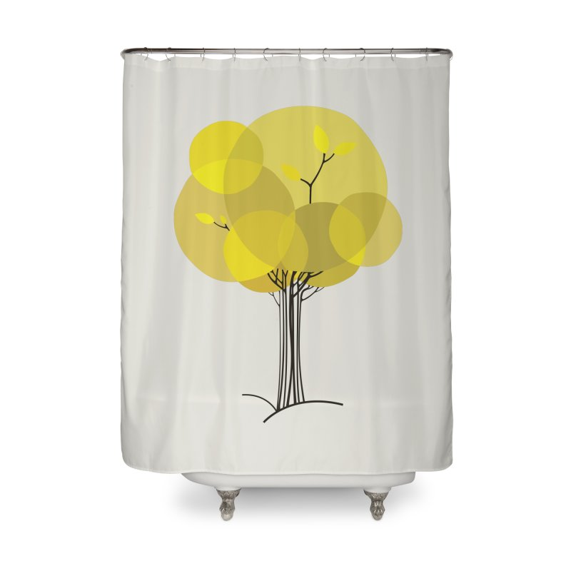 Autumn tree Home Shower Curtain by YANMOS