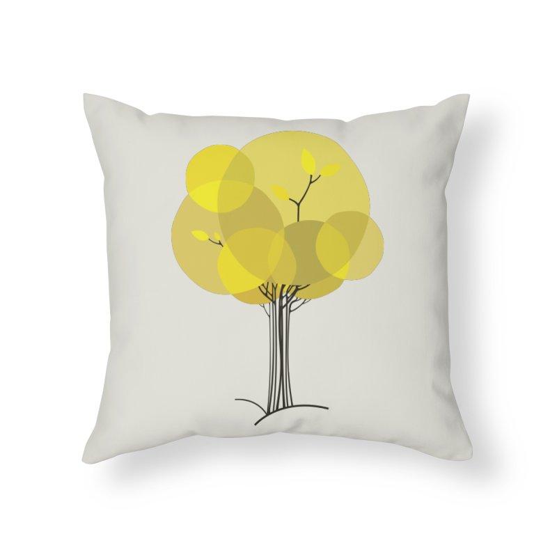 Autumn tree Home Throw Pillow by YANMOS