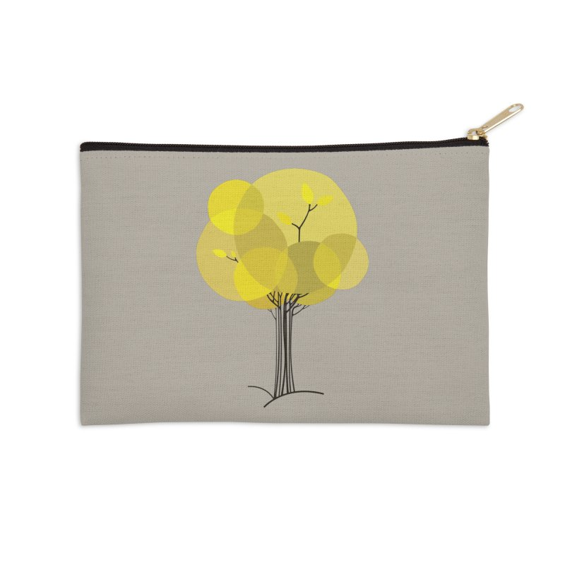 Autumn tree Accessories Zip Pouch by YANMOS
