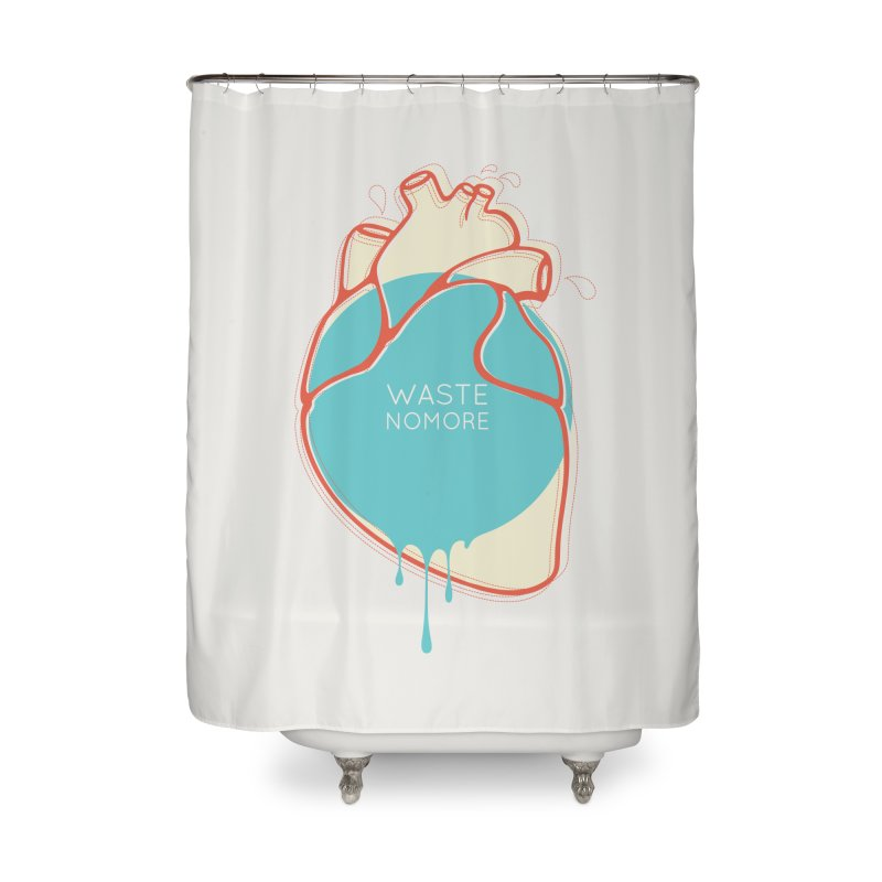 Waste No More Home Shower Curtain by YANMOS