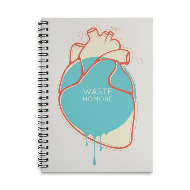 Waste No More Accessories Lined Spiral Notebook by YANMOS