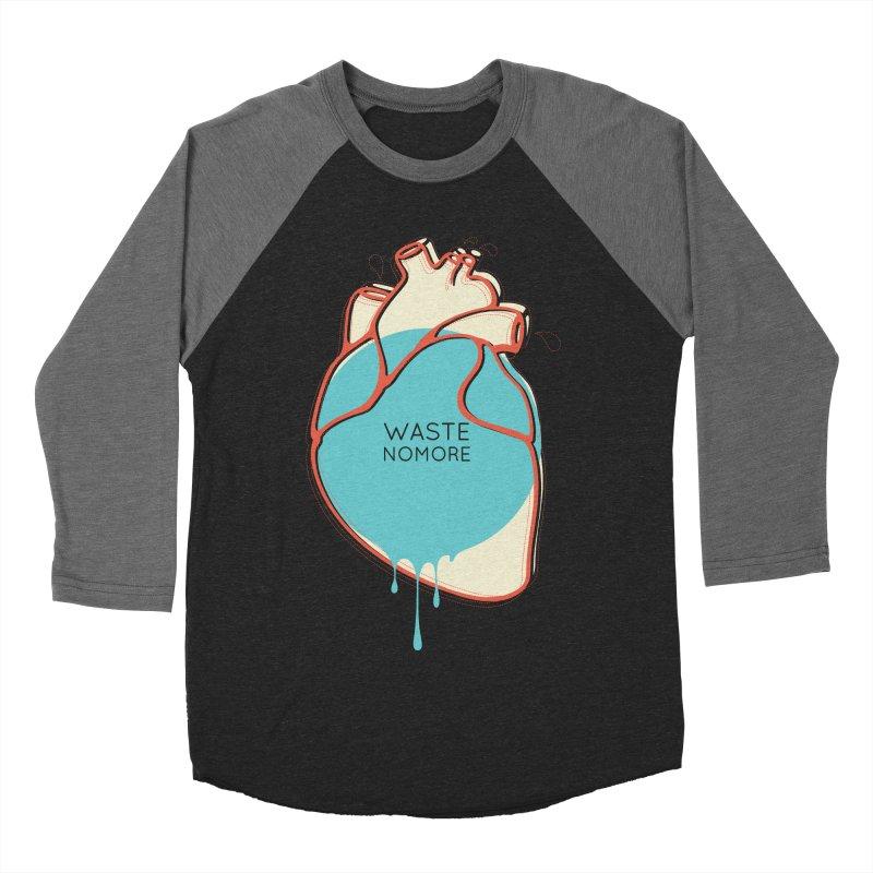 Waste No More Men's Baseball Triblend Longsleeve T-Shirt by YANMOS