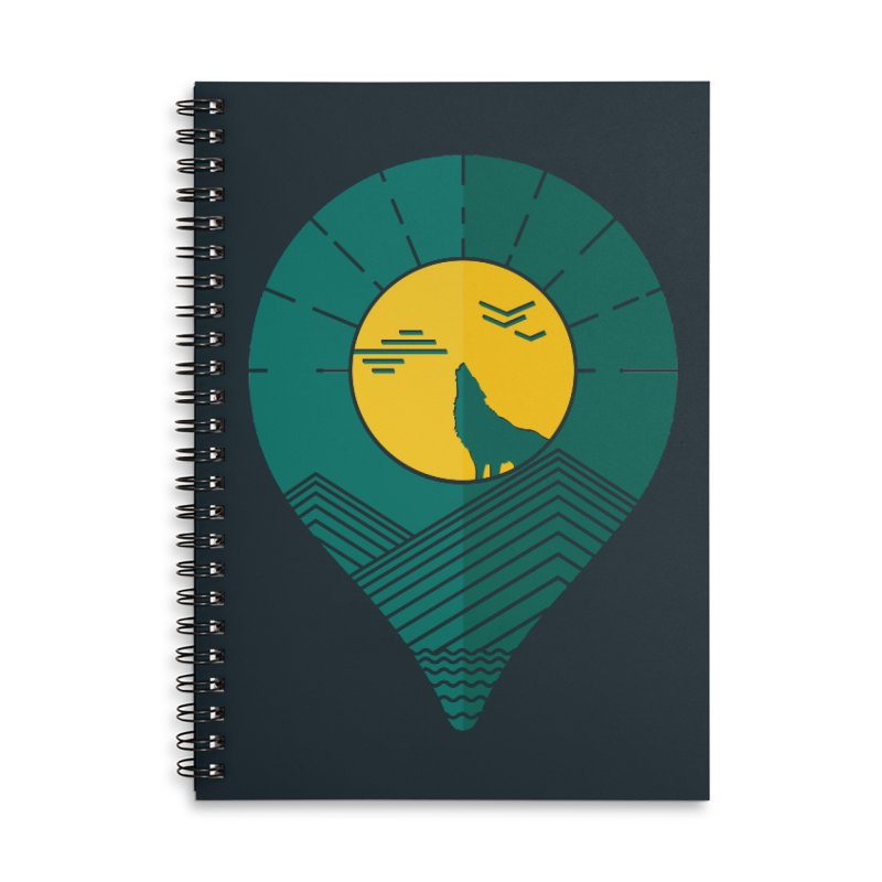 Adventure Accessories Lined Spiral Notebook by YANMOS