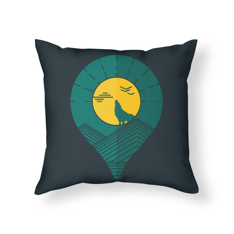 Adventure Home Throw Pillow by YANMOS