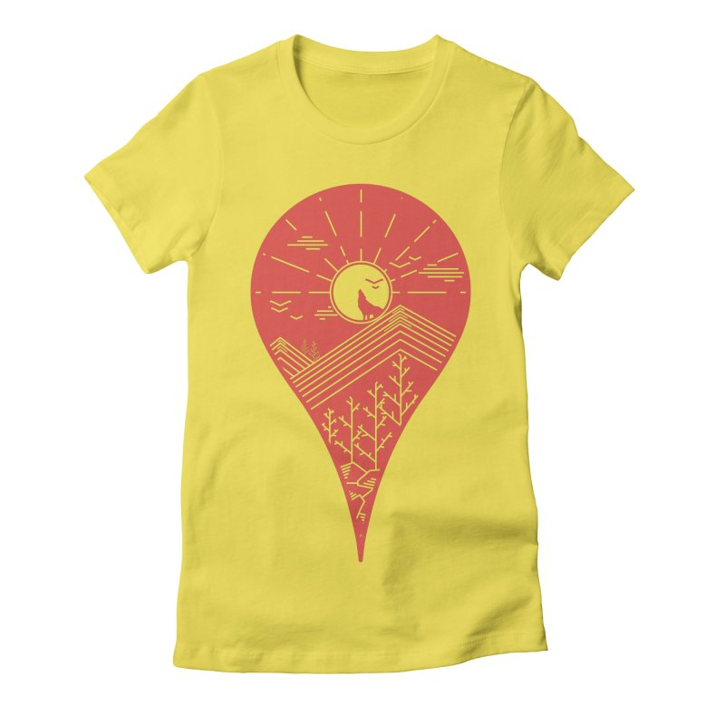 Adventure Women's Fitted T-Shirt by YANMOS