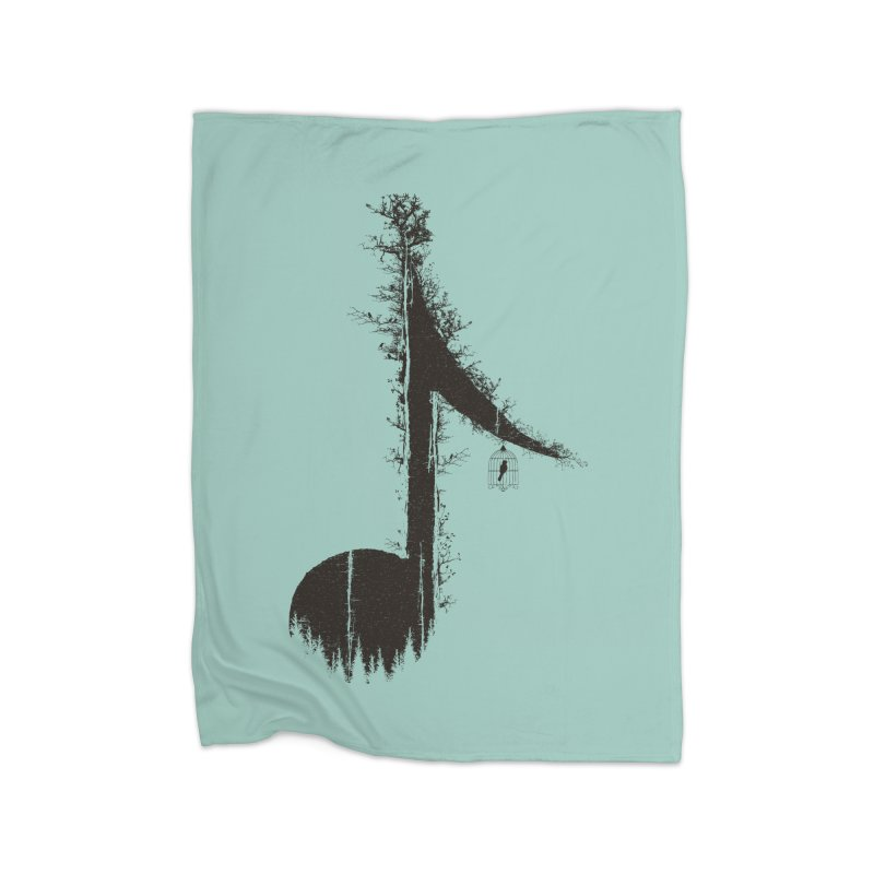 Nature has music for those who listen Home Fleece Blanket Blanket by YANMOS