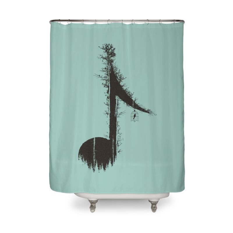 Nature has music for those who listen Home Shower Curtain by YANMOS