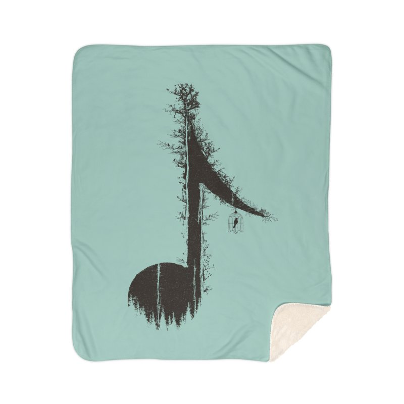 Nature has music for those who listen Home Sherpa Blanket Blanket by YANMOS