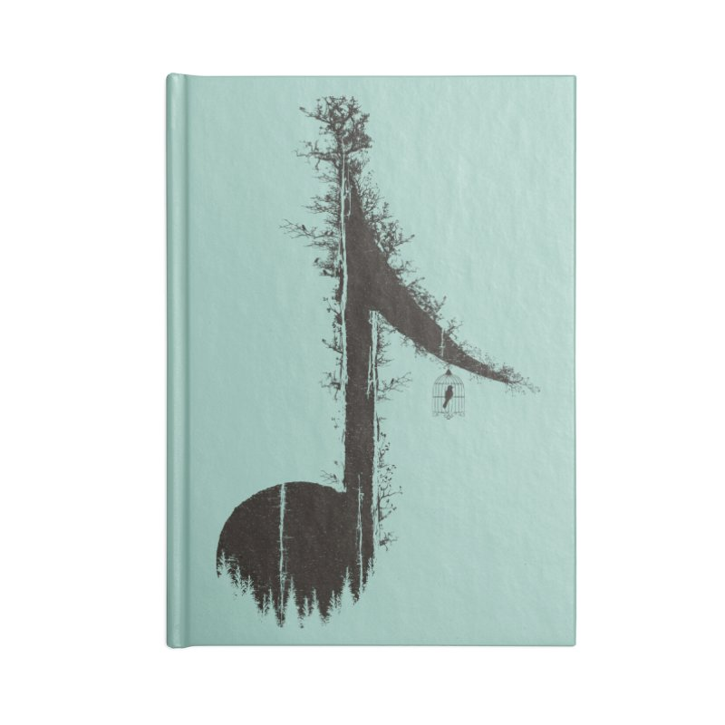 Nature has music for those who listen Accessories Blank Journal Notebook by YANMOS