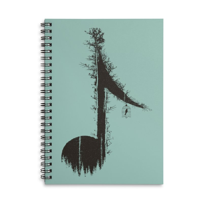 Nature has music for those who listen Accessories Lined Spiral Notebook by YANMOS