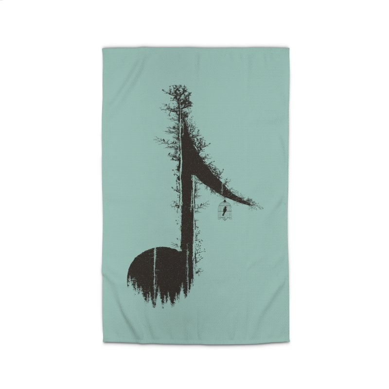 Nature has music for those who listen Home Rug by YANMOS