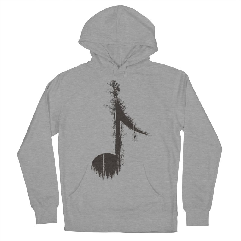 Nature has music for those who listen Women's French Terry Pullover Hoody by YANMOS