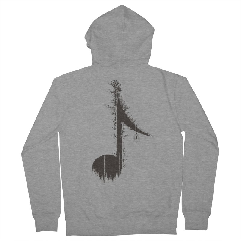 Nature has music for those who listen Women's French Terry Zip-Up Hoody by YANMOS